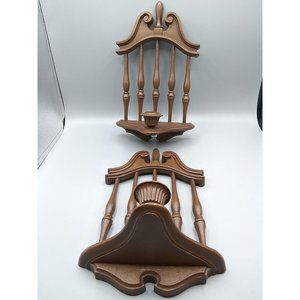 Vintage Burwood Candlestick Wall Sconce Pair, 1974